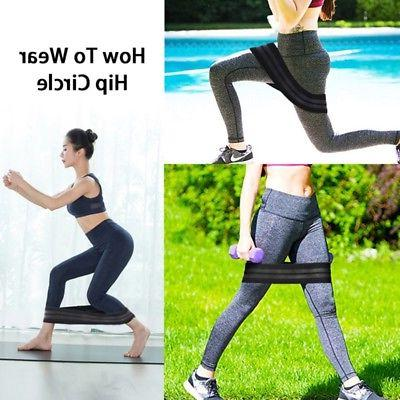 Elastic Non-Slip Hip Resistance Bands Fitness Equipment Yoga
