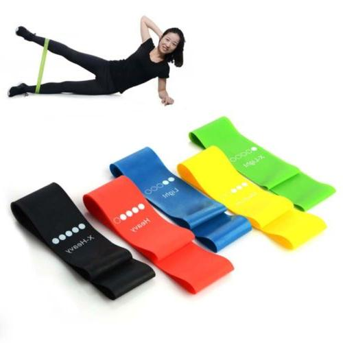 elastic resistance band muscle workout bands fitness