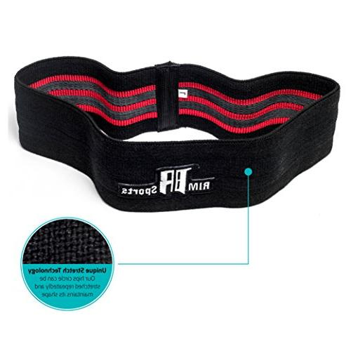RIMSports Elite Resistance Bands Resistance Band for - Circle for Lunges Premium Hip for Hips Glutes M