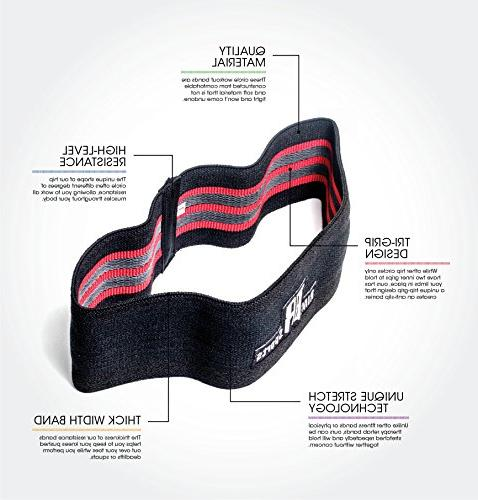 RIMSports Hip Resistance Bands Resistance for Squats - Ideal Band Circle Lunges Hips Exercises M