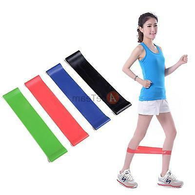 4pcs exercise ankle resistance loop bands elastic