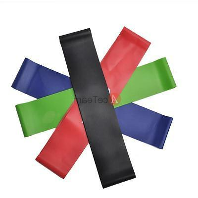 4pcs Exercise Ankle Loop Bands Elastic Strap for Training