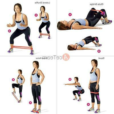 4pcs Exercise Loop Bands Elastic for