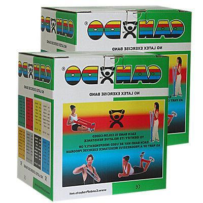 CanDo Latex Free Exercise Band - 100 yard  - Green-medium