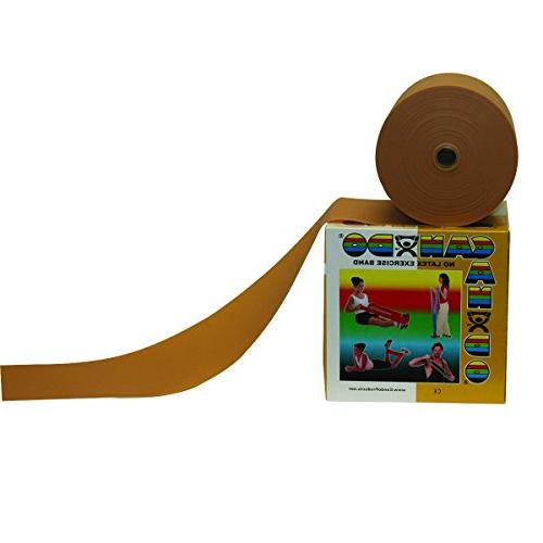 Cando 10-5627 No Latex Exercise Band - 50 Yards - Gold - XX-