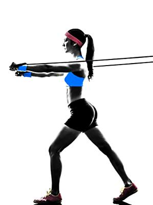 Exercise Bands Workout Gym Squats Therapy