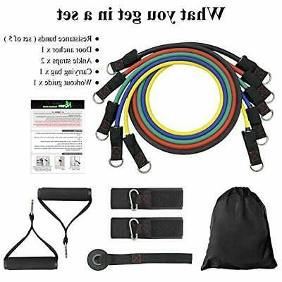 Exercise Resistance - Bands with Handles,Door Anchor