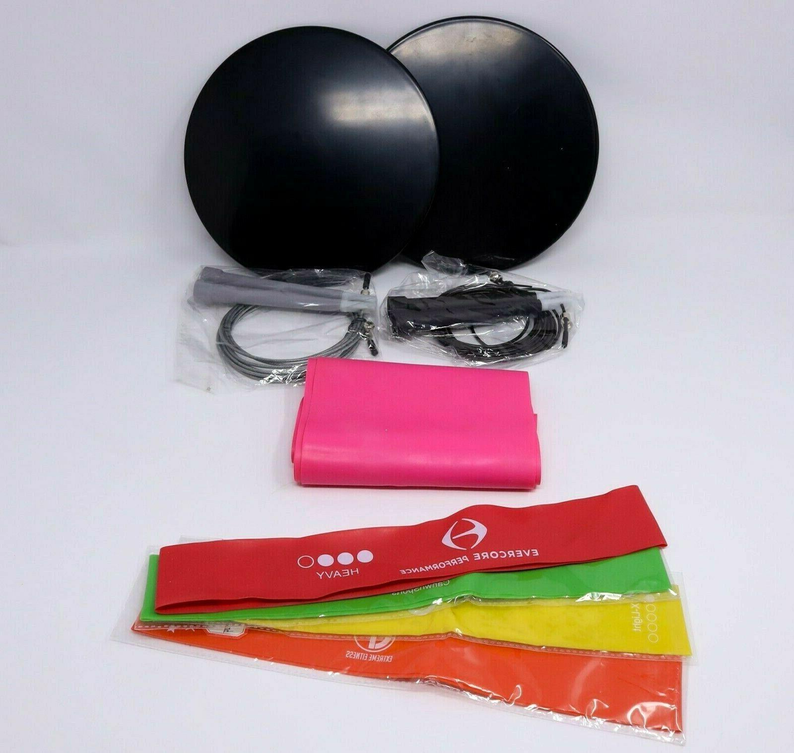 exercise bands workout stretch band ab plates