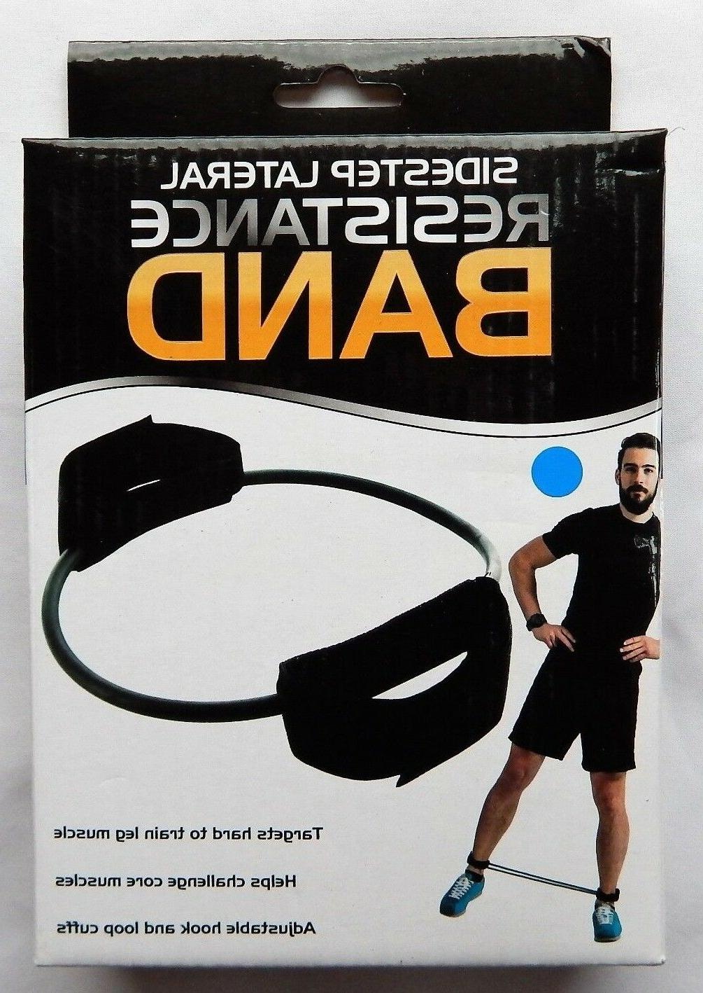 exercise leg resistance band with ankle cuffs