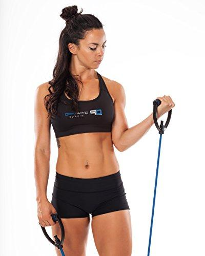 DYNAPRO Resistance Workout Equipment with Easy Grip D Adjustable and 5 Tension