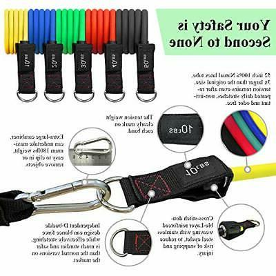 Exercise Resistance Bands Set - Anti-Snap Bands with Handles,Door