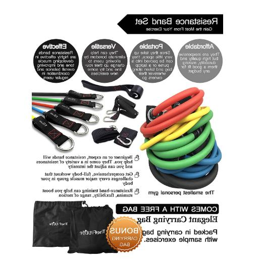 Exercise Bands with Handles Workout