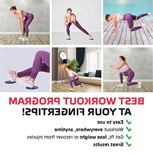 Sport2People Resistance and Sliders 4-Week Full Training Home Gym Double Sided Bands