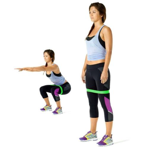 3x Resistance Bands Loop Exercise Fitness Pilates CrossFit Home