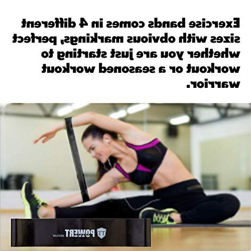 TT-Powert Exercise Resistance Fitness Work Smoothly on Any Surface, Bands for Yoga and Home with Bag