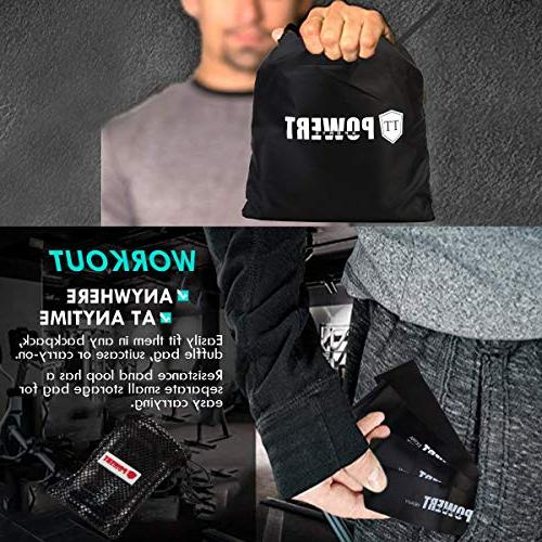 TT-Powert Exercise Sliders Resistance Fitness Core Work Smoothly on Any Surface, Loop Bands Yoga Fitness with Carry Bag