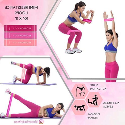 BLOSSOMBODY Exercise for Inch Mini Resistance and Sliders   Home Fitness Perfect Abs, Legs  
