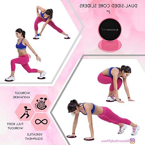 BLOSSOMBODY Resistance for Inch Mini Bands and Pink   Fitness Perfect Glutes, Legs Bonus