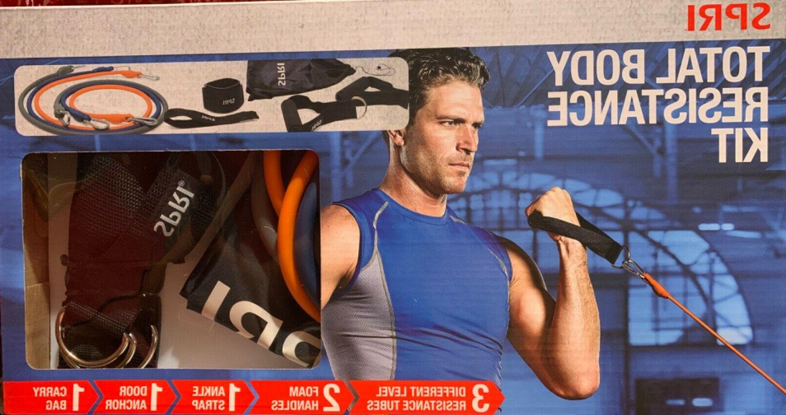 exercise total body resistance band kit fitness