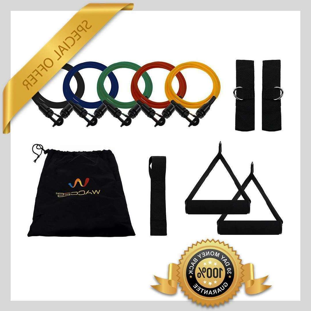Exercise variable Resistance band 5-level Latex tubes - set