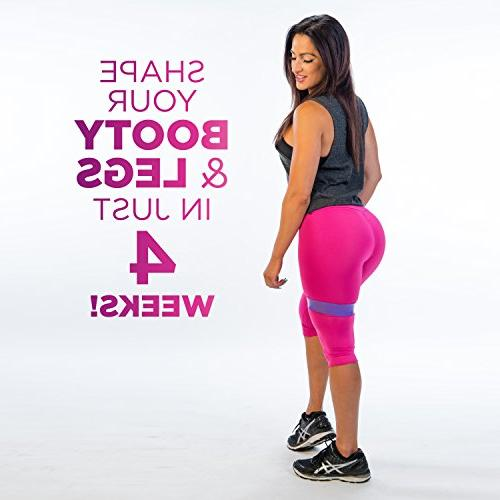 The Bands Thick Exercise - 5 Loop Booty Bands with Guide - Fitness Workout Best Legs Physical Therapy
