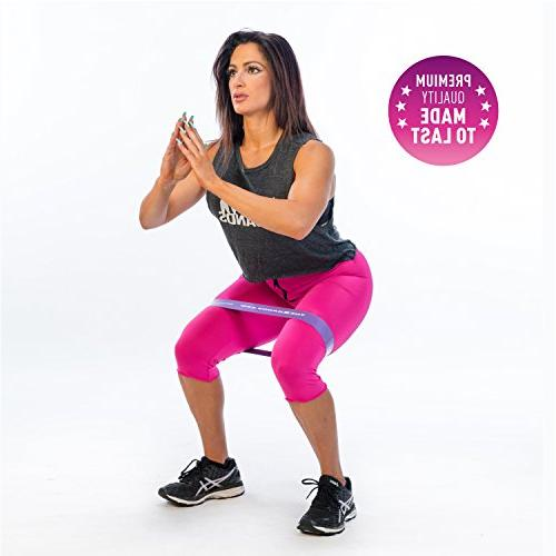 The Bands Thick Exercise Resistance Loop Booty with Guide Fitness Workout Best Stretching, Yoga, Legs Physical Therapy