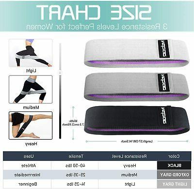 Fabric Resistance Bands for Legs Exercise Bands Workout Bands