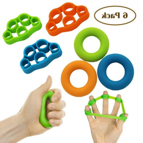 exercise finger training stretcher resistance bands hand