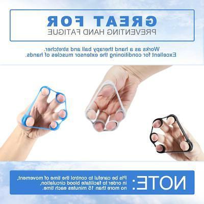 Finger Hand Bands Strengthener 3pcs