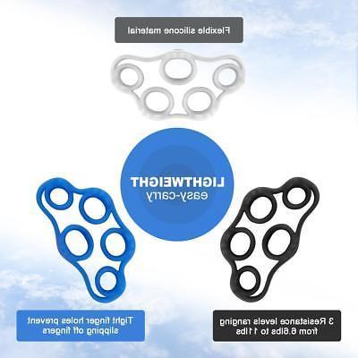 Finger Hand Resistance Bands Exerciser Strengthener