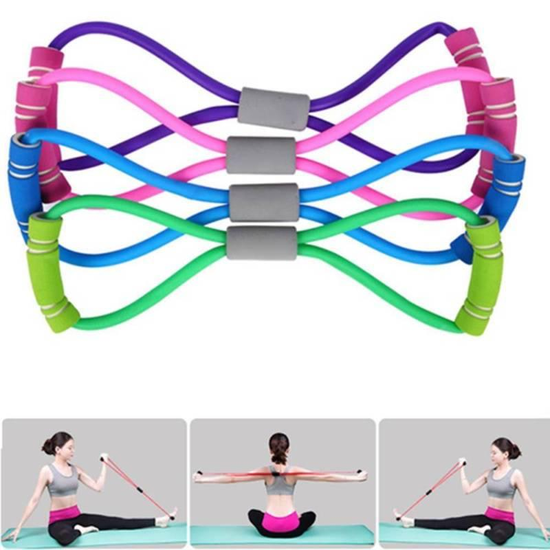 fitness equipment elastic resistance bands tube workout