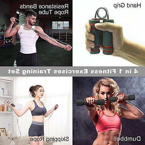 Fitness Set, Liveup Indoor Multifunction Bodybuilding Rope Resistance Tube Soft 4 1