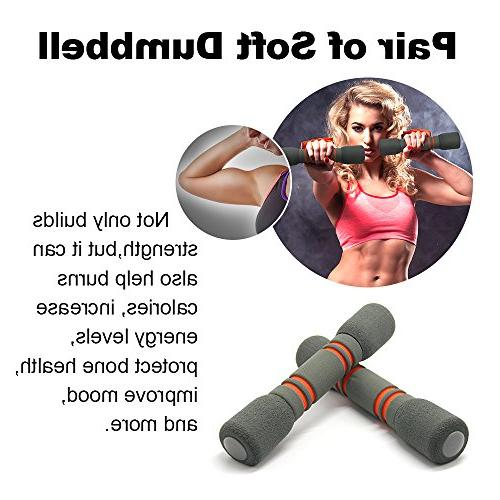 Fitness Training Set, Liveup Multifunction Rope Toning Soft Dumbbell 4 1 Set