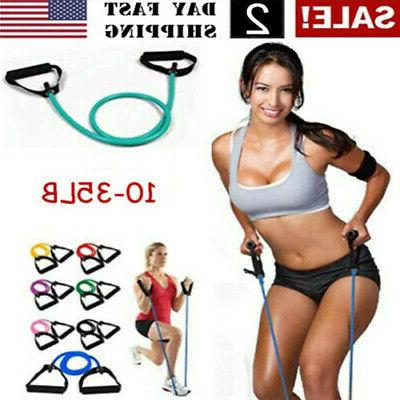 fitness latex elastic resistance pilates equipment band