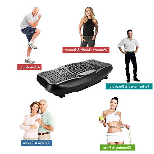 ANCHEER Massage Plate, Remote Whole Full Body Shaped Exercise USB Speaker & Two Resistance Bands