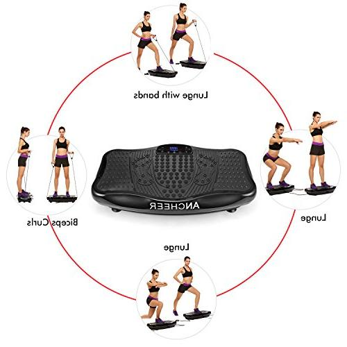 ANCHEER Fitness Plate, Whole Full Exercise with USB & Resistance