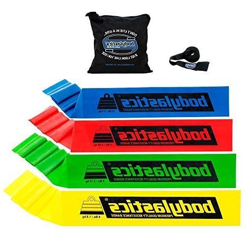 flat resistance bands set includes