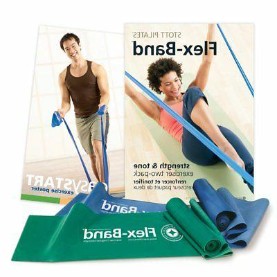 STOTT PILATES Flex-Band Two-Pack FAST FREE SHIPPING 1 day