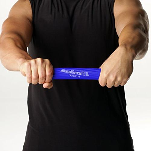 TheraBand FlexBar, Elbow Therapy Pain Strength, Golfers Elbow Blue,