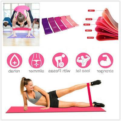 full set exercise fitness resistance bands yoga