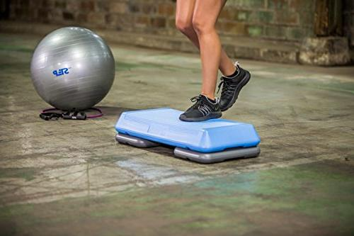 Step Aerobic Platform with Adjustable Risers Ball Workout DVD Need for Sports Fitness