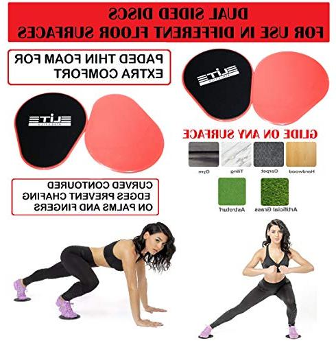 Gliding Discs Core Sliders Set of 2 Exercise Bands 5 Speed Jump Rope Carry Bag for Low-Impact to Abs,