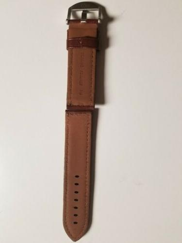 Hadley-Roma 24mm Tan Leather Water Band