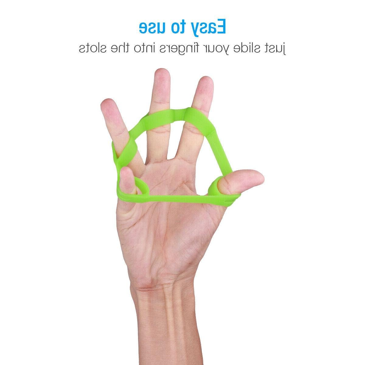 Hand Resistance Bands Stretcher Extensor Strengthener