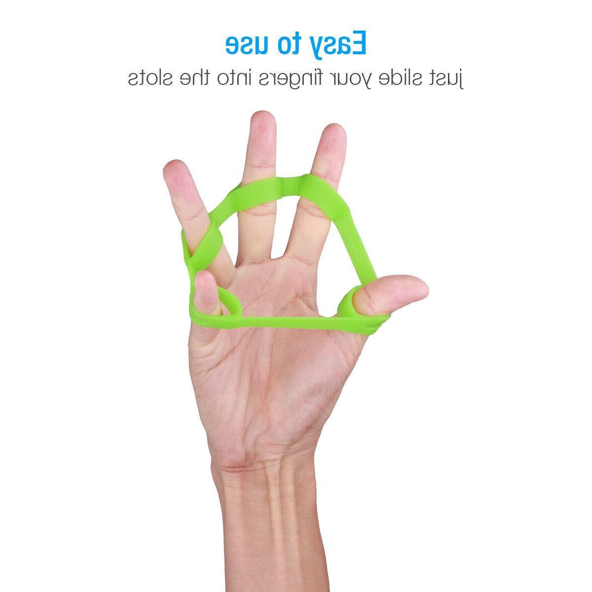 6PCS Hand Resistance Finger Stretcher Grip