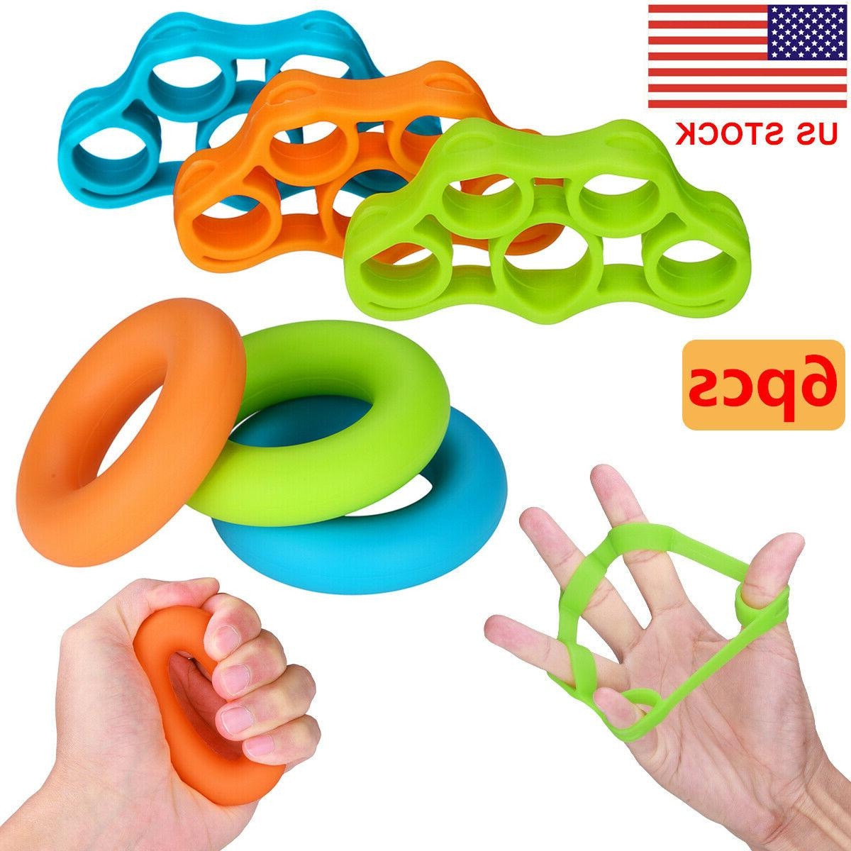 hand resistance bands finger stretcher extensor exerciser