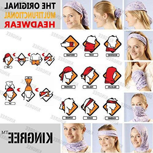 KINGREE Multifunctional Headwear, Sports Scarf, with UV Resistance, Athletic Headwrap, Hairband