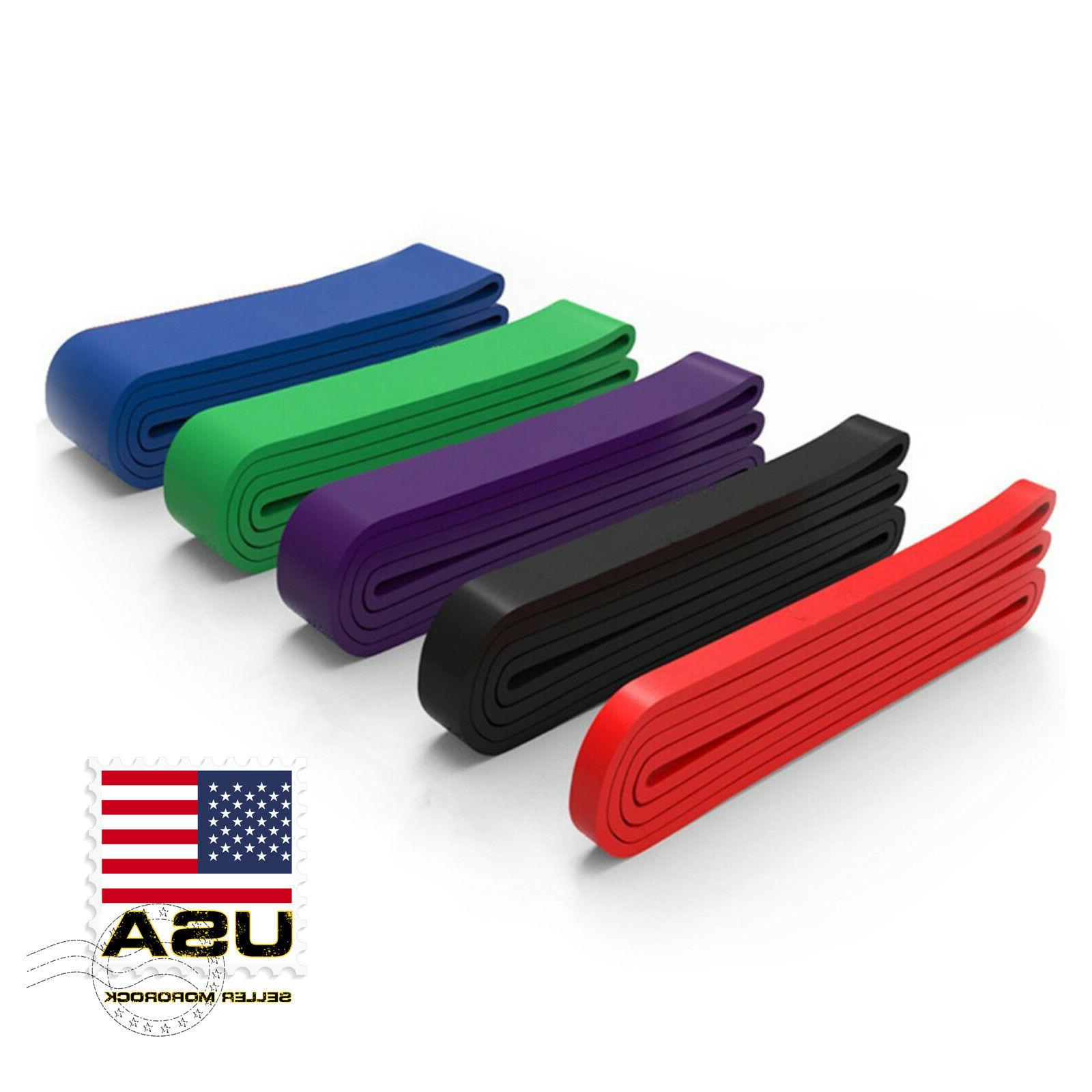 heavy duty exercise bands latex resistance fitness