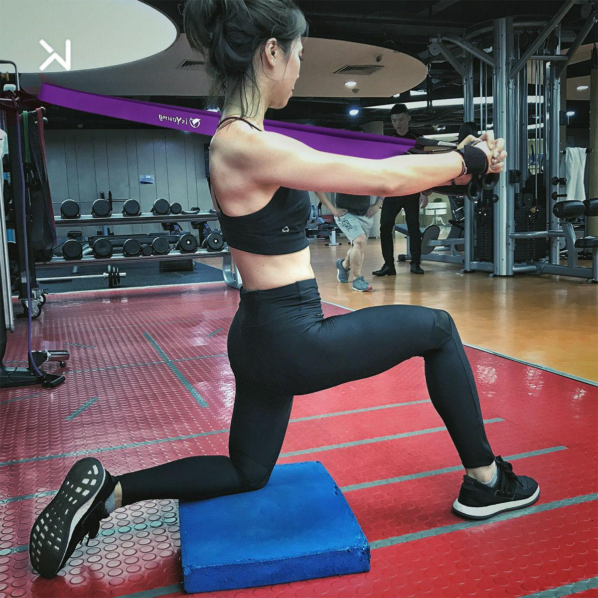 Heavy Pull Stretching Resistance Loop Power Fitness Exercise Yoga