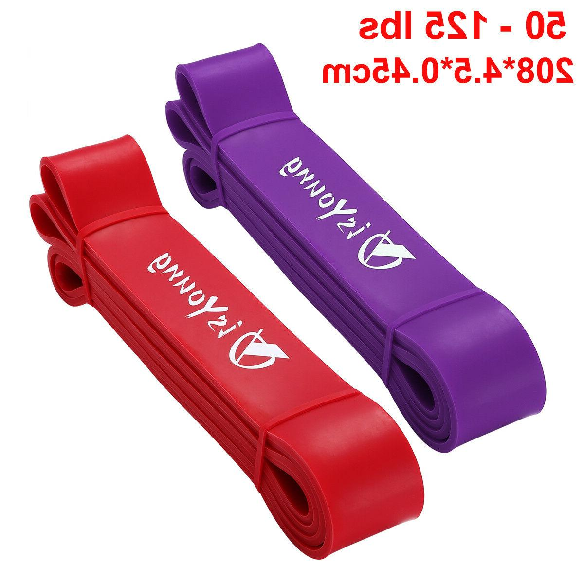 Heavy Duty Pull Up Stretching Resistance Band Loop Power Fit